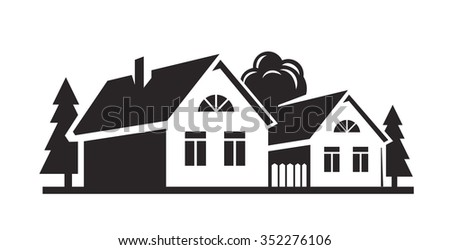 vector black house icon on white background