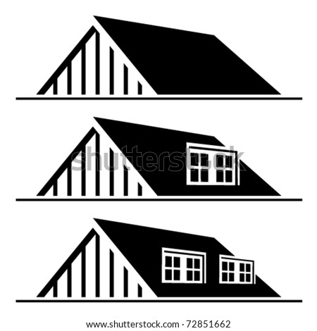 House Roof Logo Vector Black House Roof