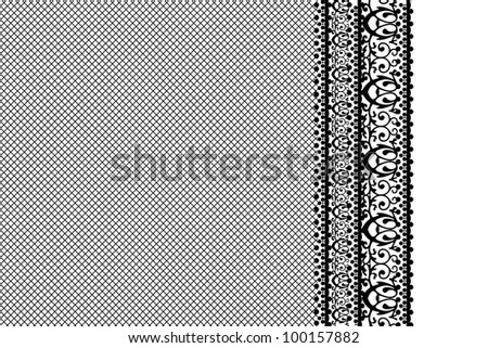 Vector black lace background - stock vector