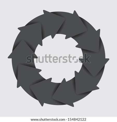 Vector black life cycle diagram. 10 Steps. - stock vector