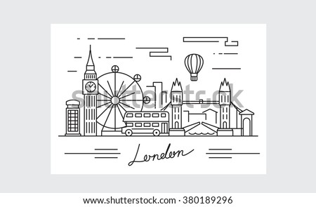 vector black london icon on white background - stock vector