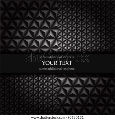Vector black mosaic background - stock vector