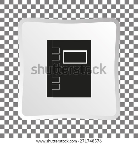 Vector black notebook (organizer) icon. - stock vector