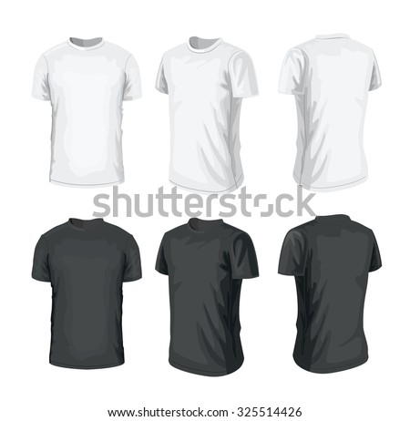 vector black T-shirt icon on white background - stock vector