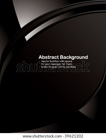 Vector. Black tech background with space for your message. - stock vector