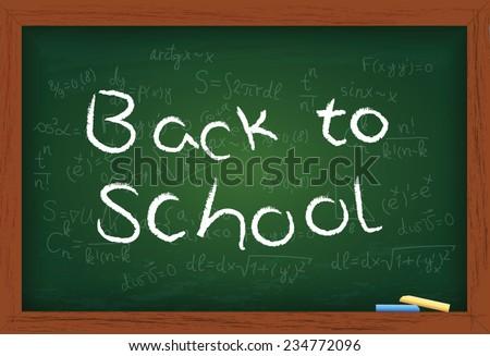 Vector blackboard and back to school concept - stock vector