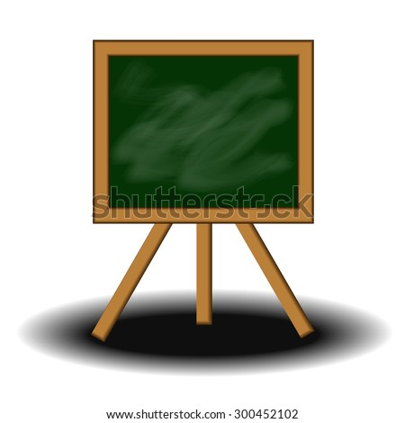 Vector : Blackboard and shadow on white background