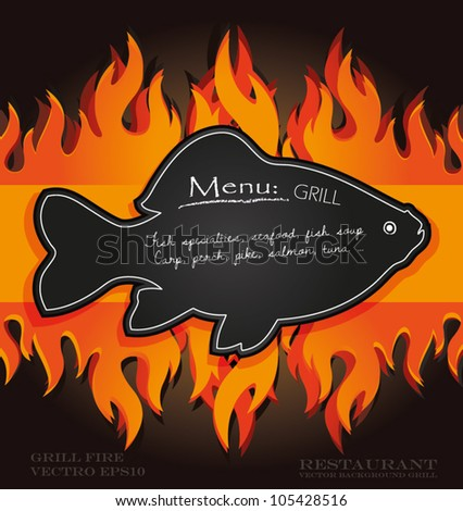 Barbecue fish stock images royalty free images vectors for Fish on fire menu