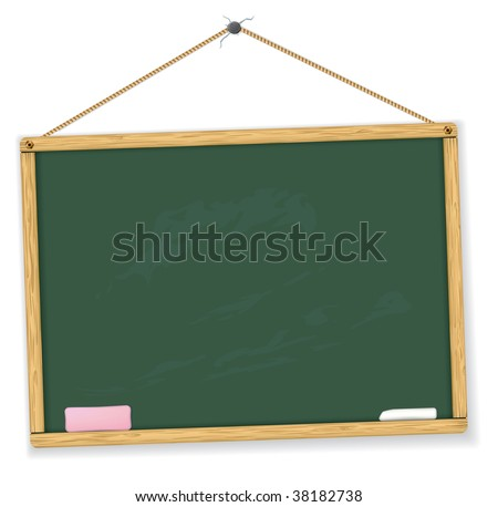 Vector blackboard. Highly detailed. Easy to edit. Education vector collection. - stock vector