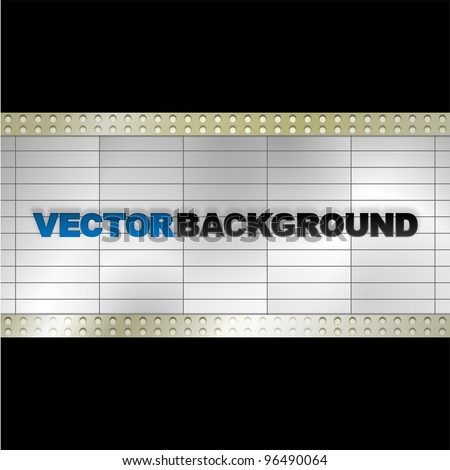 Vector Blank Billboard - stock vector