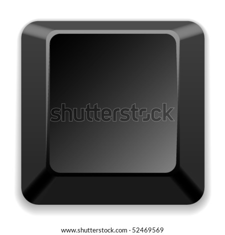 vector blank black key - stock vector