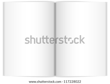 Vector blank book - stock vector