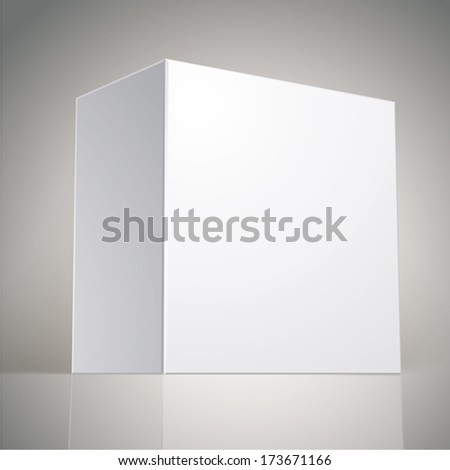 Vector blank box, template for your package design, put your image over the pack in multiply mode, illustration eps 8. - stock vector