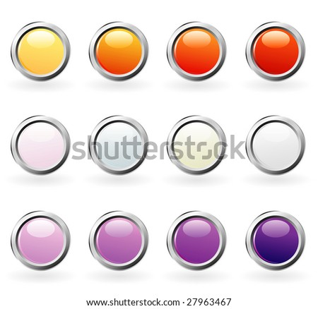 vector blank buttons for web and computing