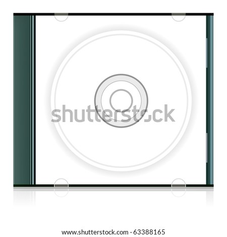 Vector blank cd box - stock vector