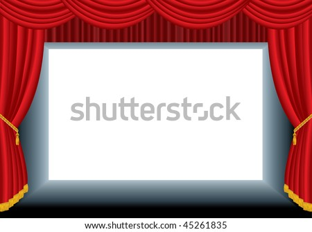 vector blank cinema background- put your text or image in lower layer - stock vector