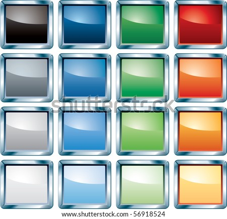 vector blank colorful buttons for web, computing etc. - stock vector