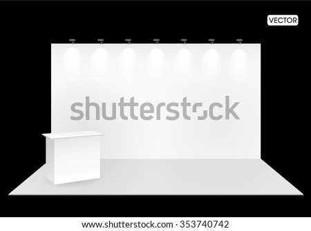 Vector blank exhibition  trade show booth - stock vector