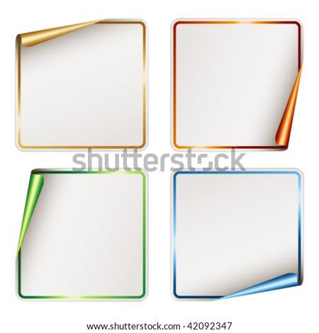 vector blank festive stickers - stock vector
