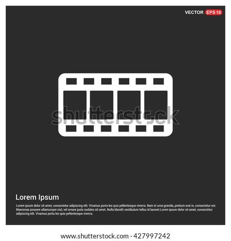 vector blank film strip - stock vector