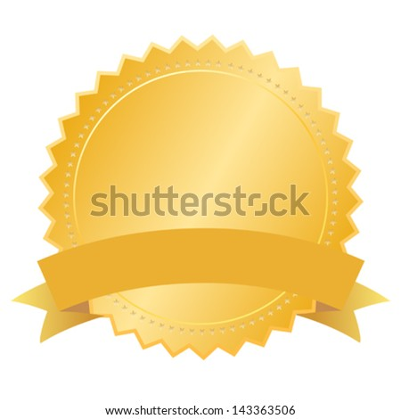 Vector blank gold seal - stock vector