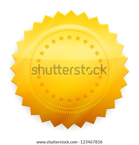 Vector Blank guarantee certificate isolated on white background - stock vector