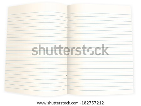 Blank piece of paper to write on the computer