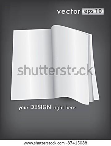 Vector blank magazine - stock vector