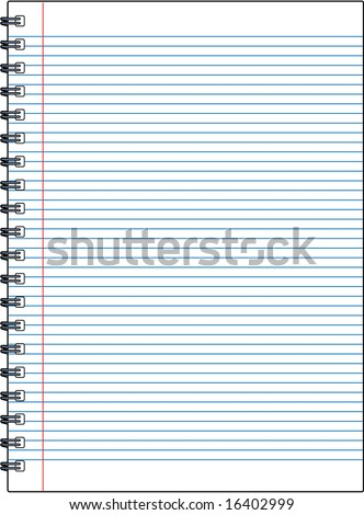 vector blank notebook illustration - great for adding your own text and messages! - stock vector