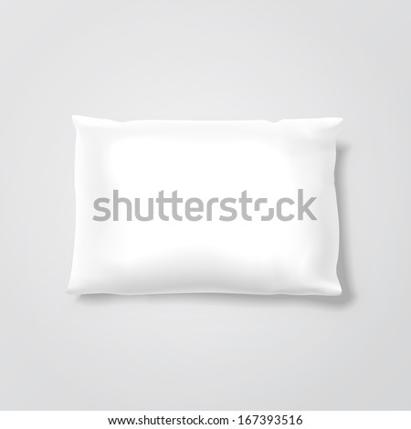 Vector Blank Pillow - stock vector