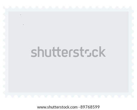 Vector blank postage stamp with place for your text - stock vector