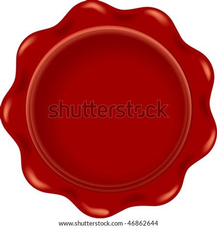vector blank red wax - stock vector