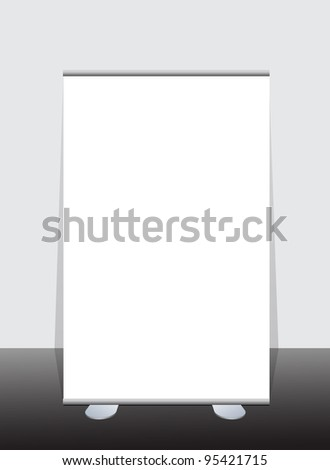 Vector blank roll up banner display - stock vector