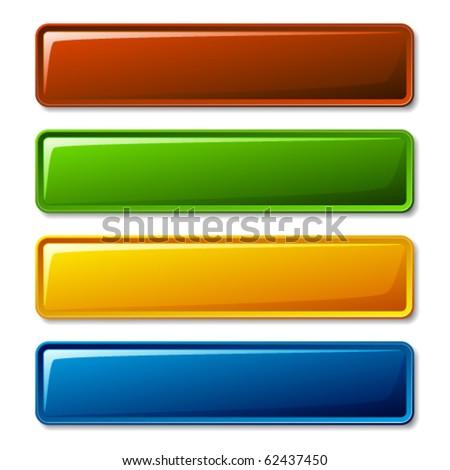 vector blank shiny buttons - stock vector