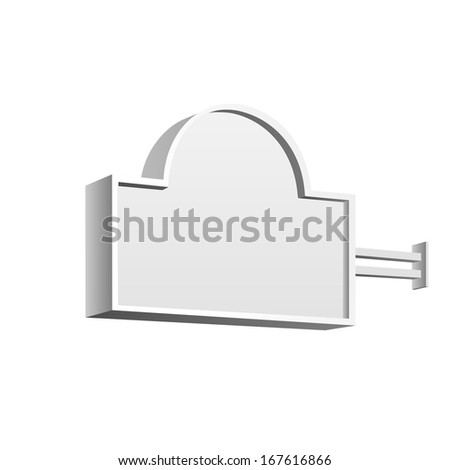 Vector Blank Signboard - stock vector