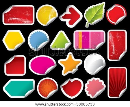 Vector Blank Sticker - stock vector