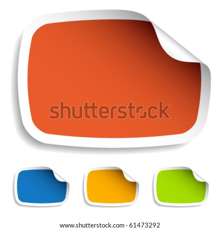 vector blank stickers - stock vector
