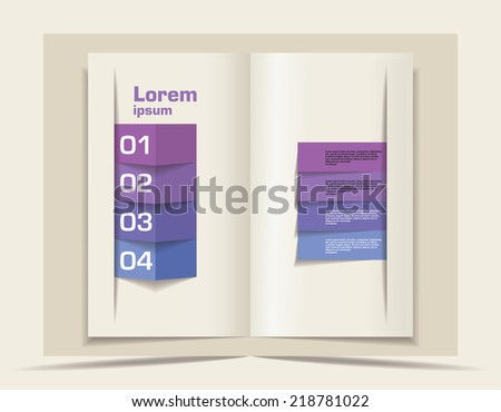 Vector blank. Template for design - stock vector