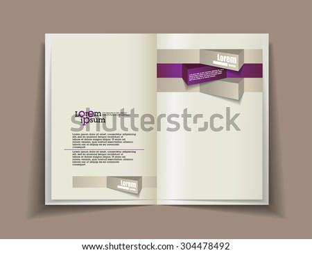 Vector blank. Template for design - stock vector