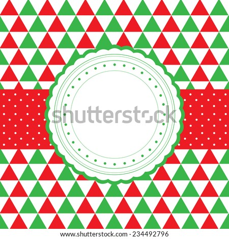 vector blank template greeting card   - stock vector