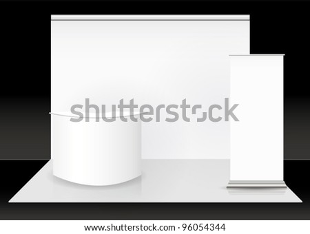 Vector blank trade show booth - stock vector