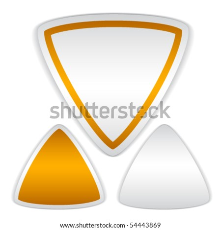 vector blank triangle stickers - stock vector