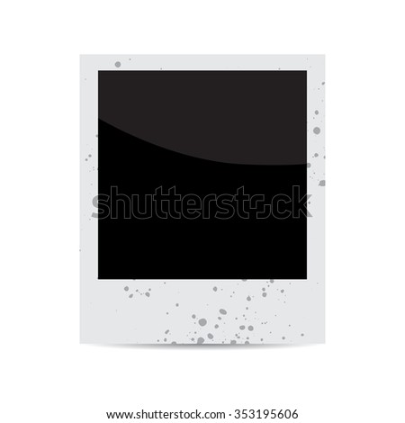 vector blank vintage photo frame isolated on white. EPS - stock vector