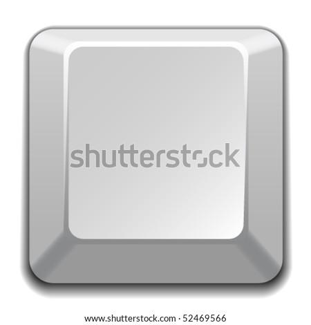 vector blank white key - stock vector