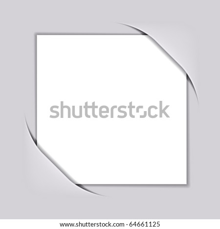 vector blank white square paper - stock vector
