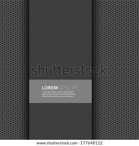 Vector blank with dark background and uniform texture for postcards, albums, magazines, advertisements, ads, web, information, banner, internet site. paper design