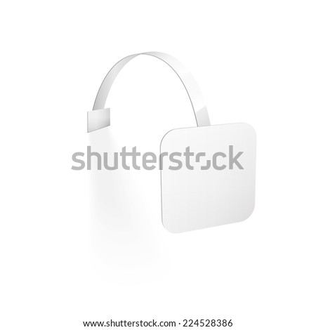 Vector Blank Wobbler with Transparent Strip Isolated on a White Background - stock vector