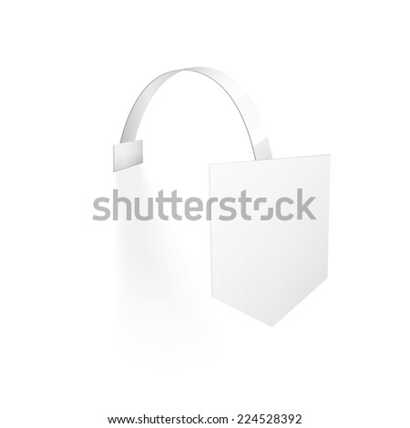 Vector Blank Wobbler with Transparent Strip Isolated on a White Background