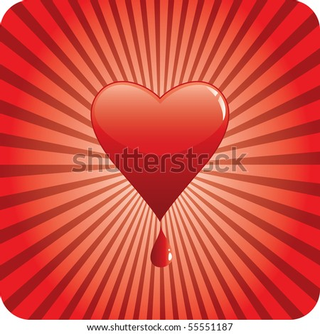 vector bloody heart