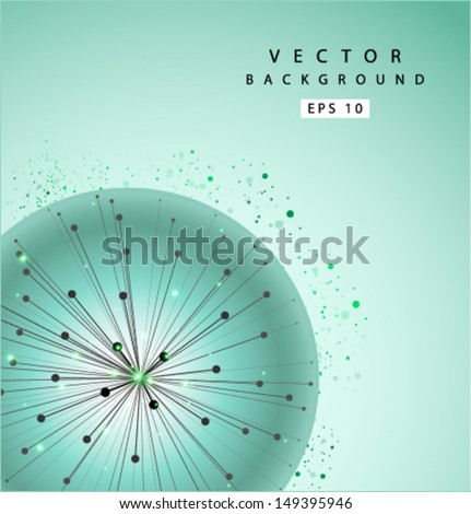 Vector blowball background - stock vector